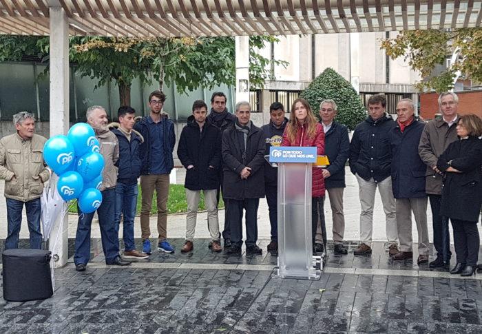 """PP dice que, si no se """"aglutina"""" el voto en Bizkaia, el escaño que está """"en juego irá al PNV y por tanto, al PSOE"""""""